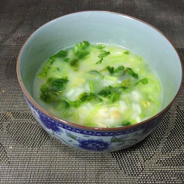 虾皮芥菜粥
