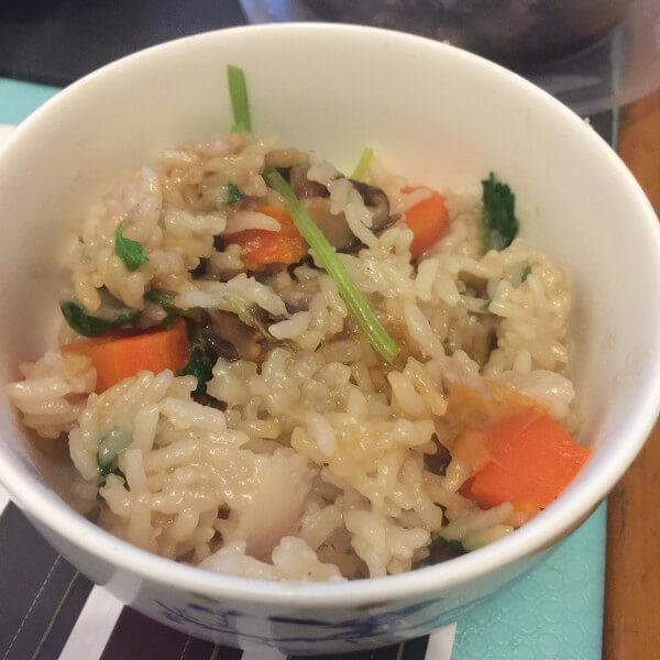 红萝卜花蟹咸饭