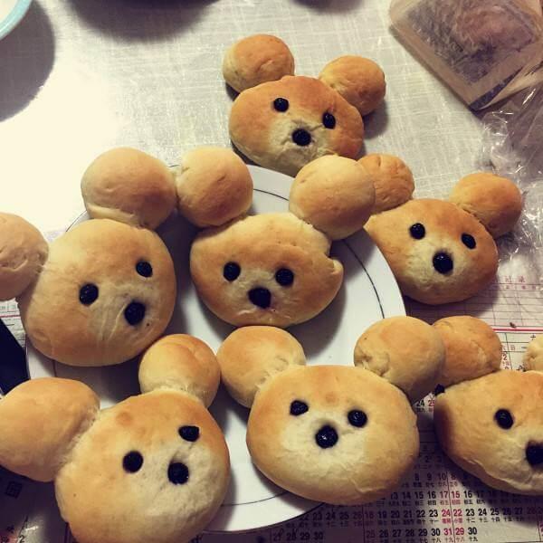 好吃的双色小熊豆