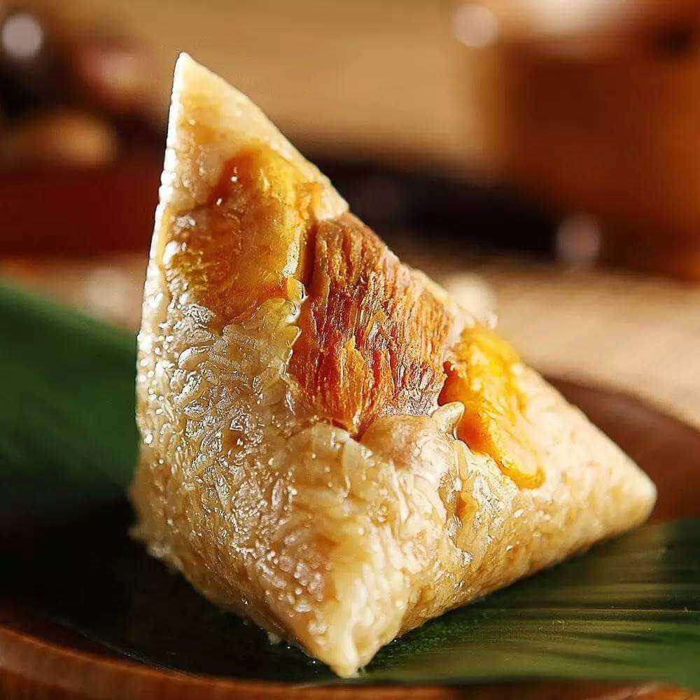 美味的板栗鲜肉粽