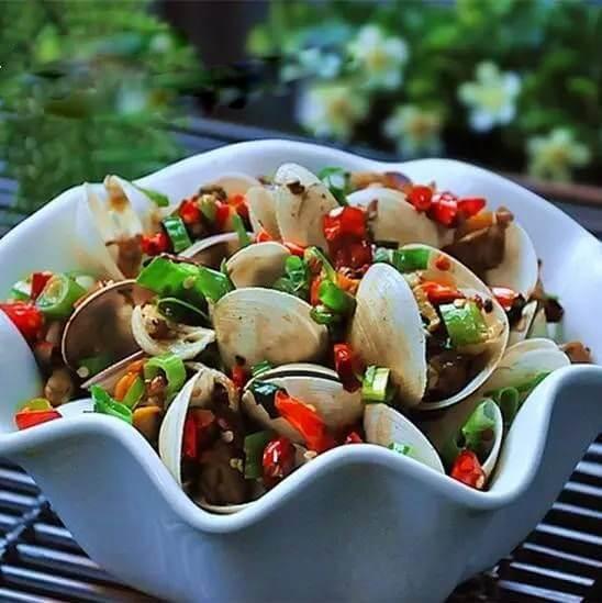 双椒蛤蜊肉