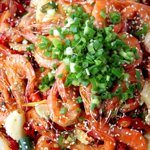 颜值高的香柠芝麻虾