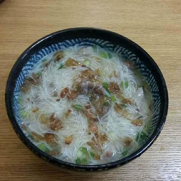 地瓜粉团煮面线