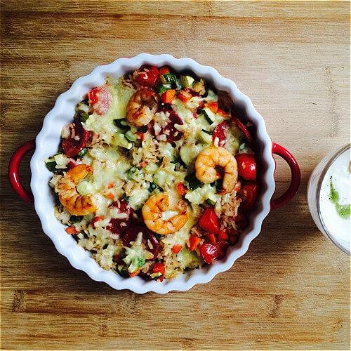 腊肠蔬菜锅巴饭