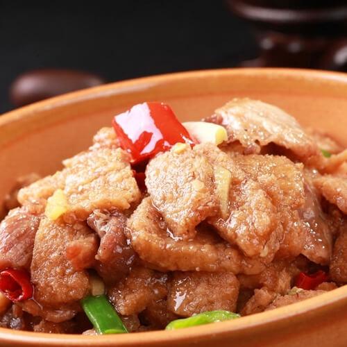 黄豆红焖五花肉
