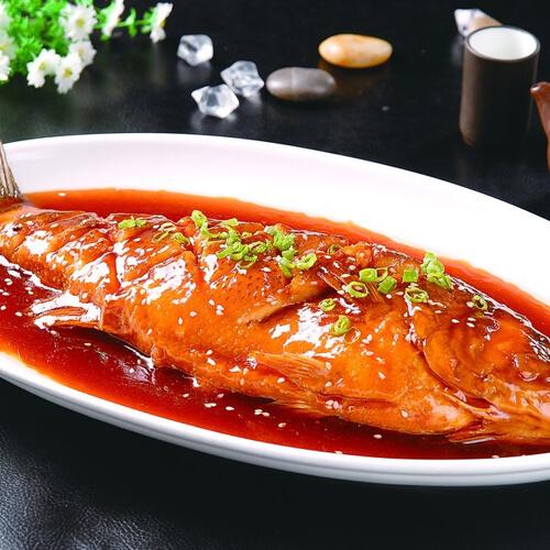 甜面酱烧海鲈鱼