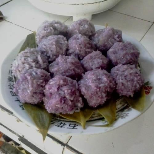 紫薯糯米汤果