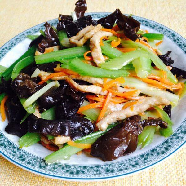芹菜竹笋炒肉丝