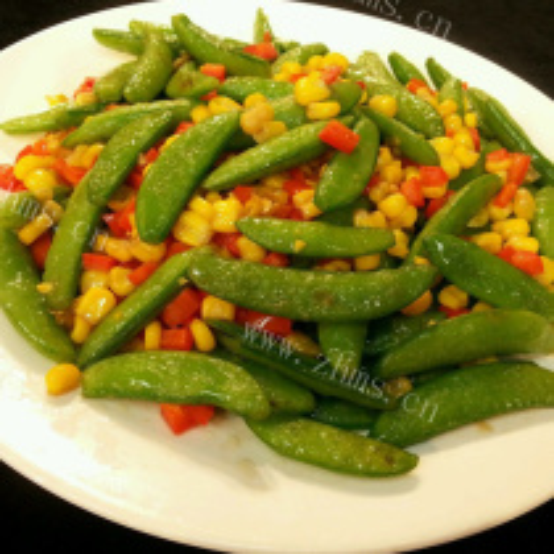白菜炒豌豆