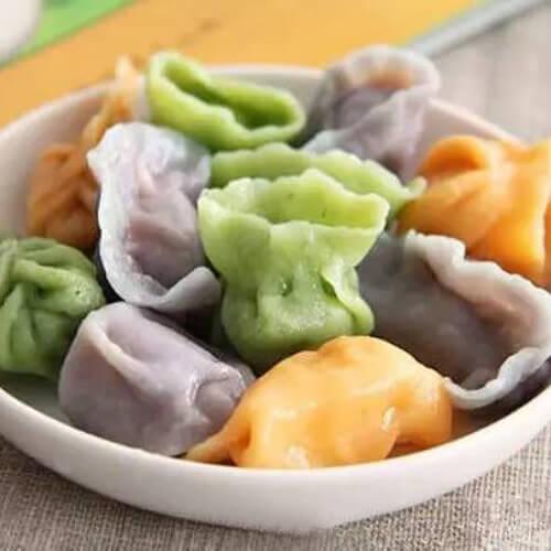 【懒人版】胡萝卜玉米素饺子