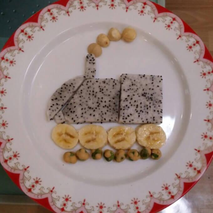 小火车早餐拼盘