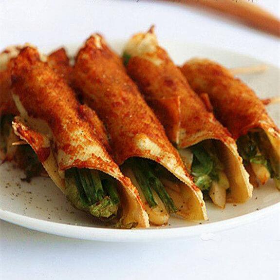 #最爱#香烤豆皮蔬菜串