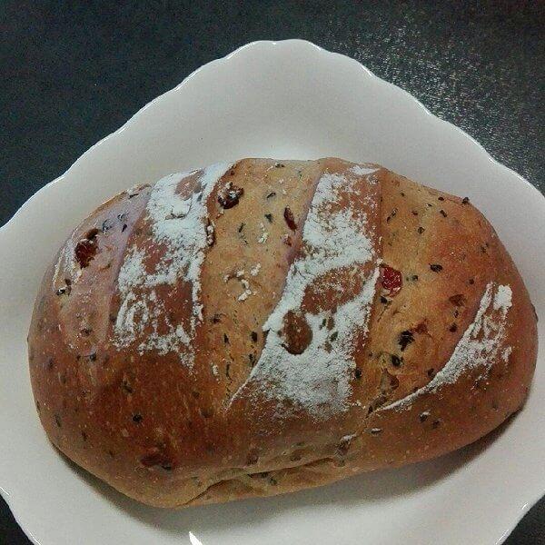 腰豆红枣面包