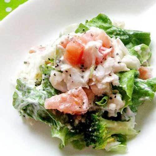 鲷鱼生菜沙拉