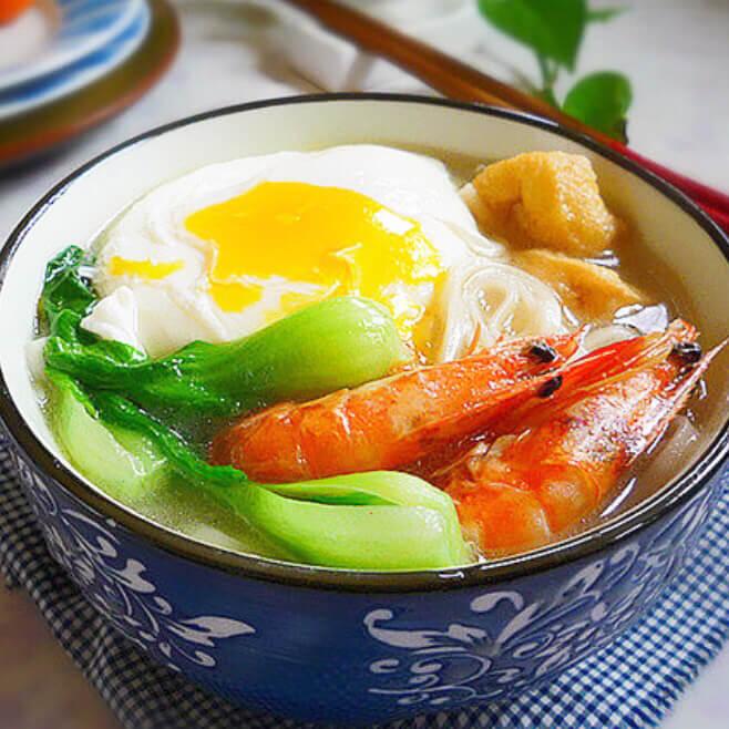 油豆腐虾干面
