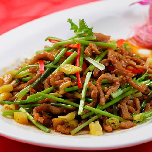 椒香土豆丝炒酱牛肉