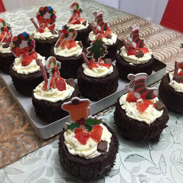 圣诞杯蛋糕