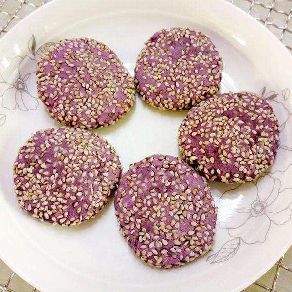 芝心紫薯饼