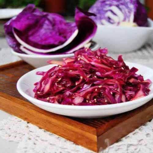 萝卜丝拌紫甘蓝