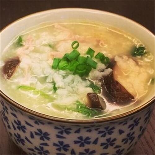 香菇菠菜鸡肝粥