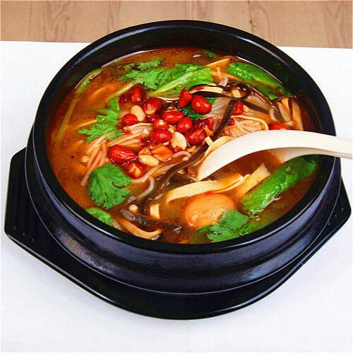 鸡汤蔬菜辣米线(简单版)
