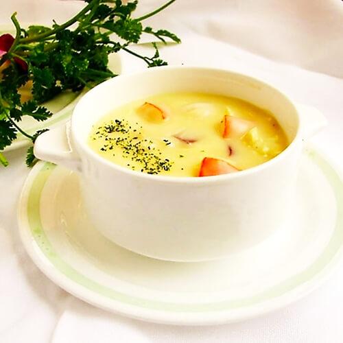 【家庭版】口蘑筒蒿海鲜汤