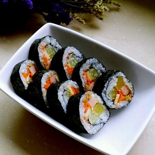 麻酱紫菜包饭(原创)