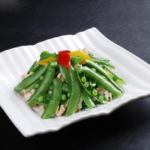 豌豆炒午餐肉