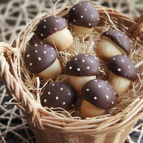 玉盘珍馐的蘑菇饼干