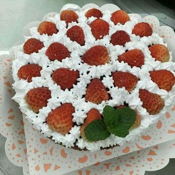 草莓蛋糕裱花