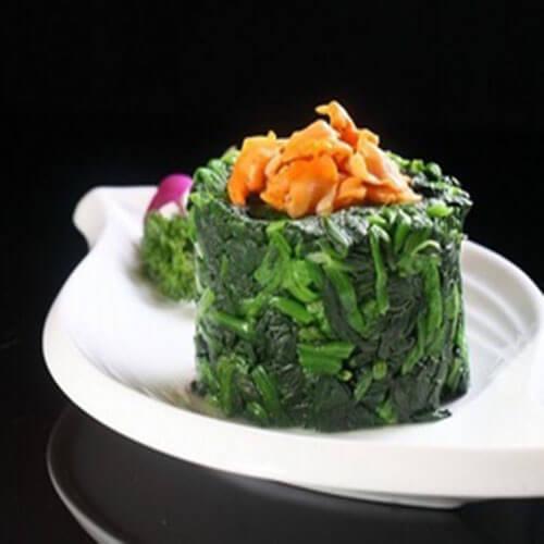易做的菠菜拌毛蚬子