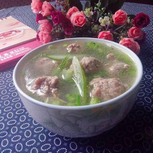 妈妈做的青瓜肉末汤