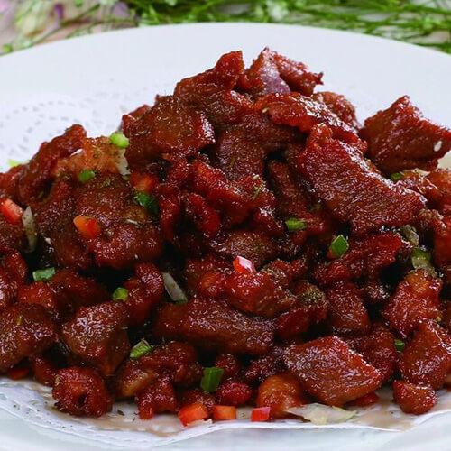 美味的炒牛肉