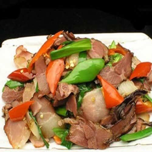 花菜大豆蛋白炒尖椒