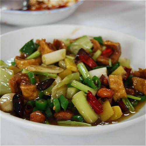 小油菜炒香干