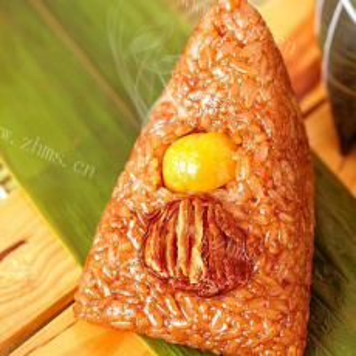 美味板栗鲜肉粽