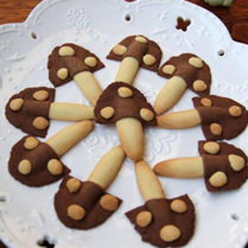 脆嫩可口的蘑菇饼干