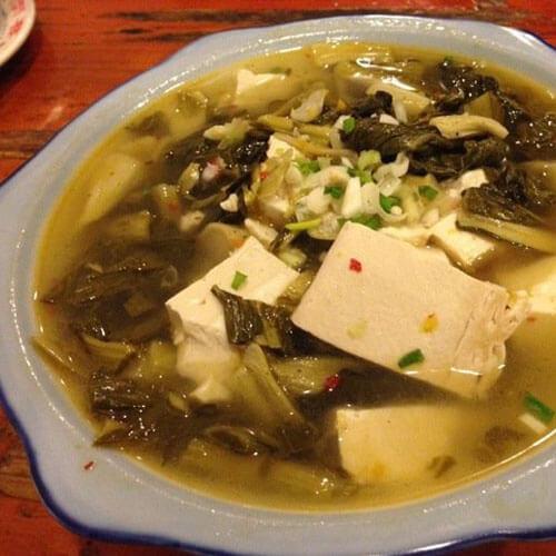 砂锅冻豆腐酸菜