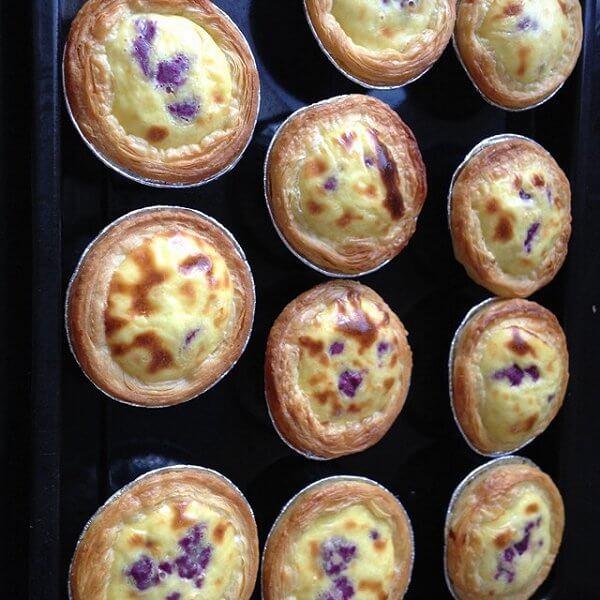 椰香紫薯挞