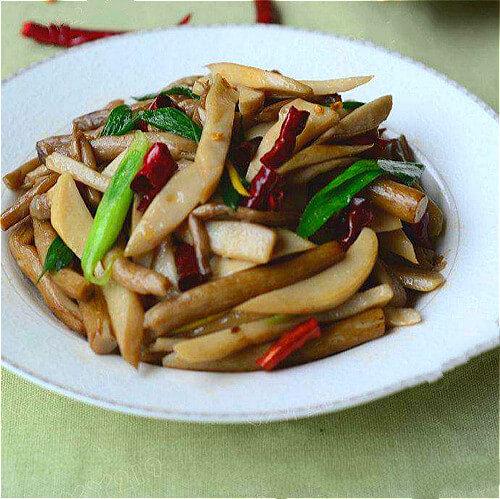 简易版-葱香炒双菇