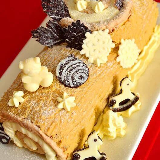 圣诞木柴蛋糕