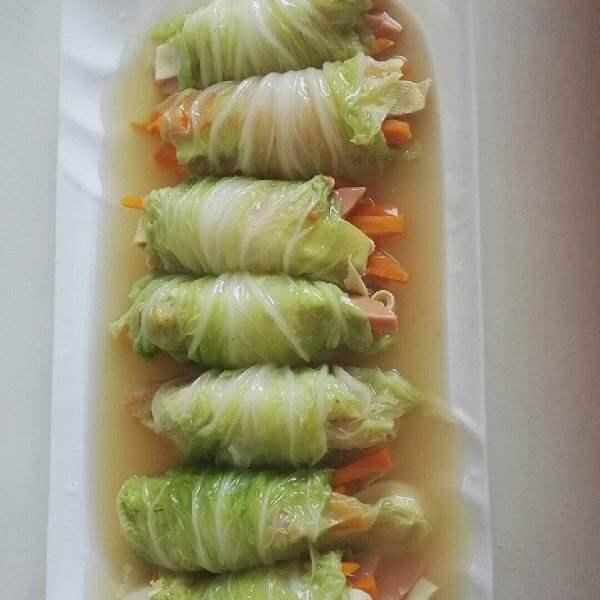 翡翠萝卜卷