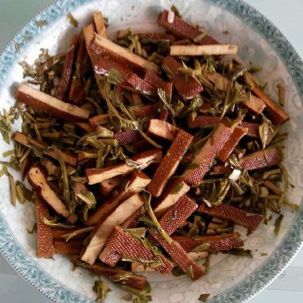香椿芽拌豆干