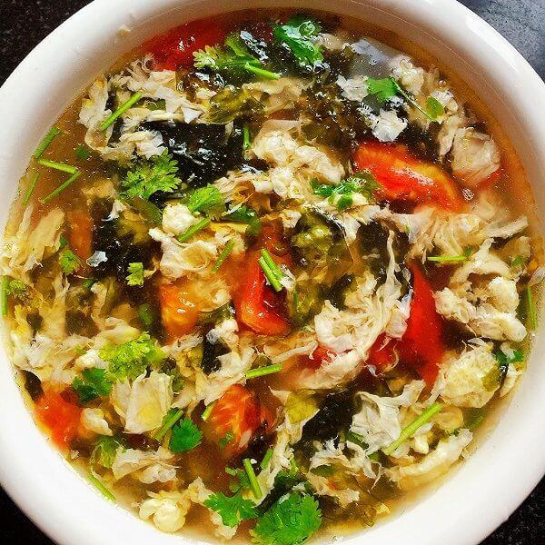 味道不错的紫菜蔬果汤