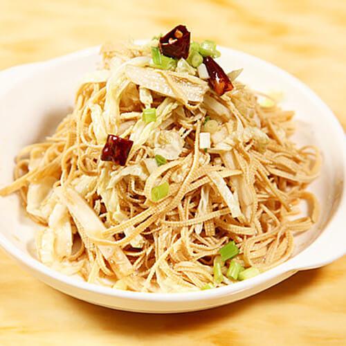 豆腐丝拌菜心