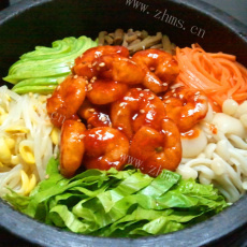 特色韩国拌饭的做法