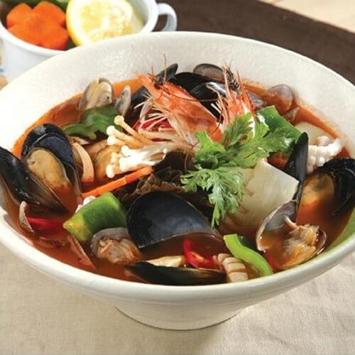 时蔬海鲜汤