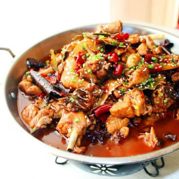白菜香菇烧鸡块
