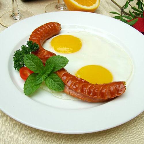 【DIY美食】双蛋肠