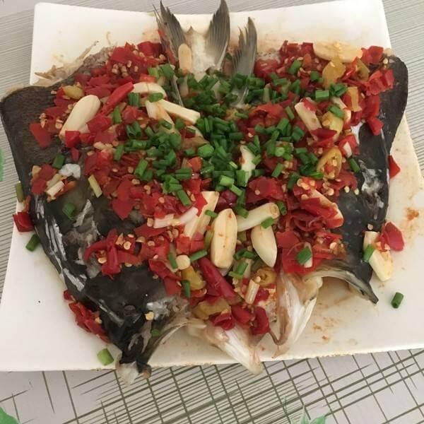妈妈教我做剁椒烤鱼头